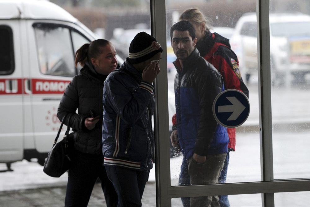 أهالى ضحايا الطائرة المنكوبة فى روستوف