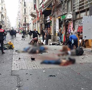 انفجار شارع الاستقلال باسطنبول