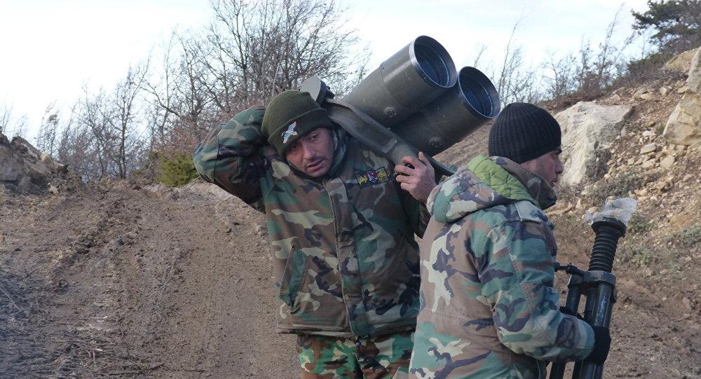 الجيش السوري في مناطق عين البيضة وجبل القلعة