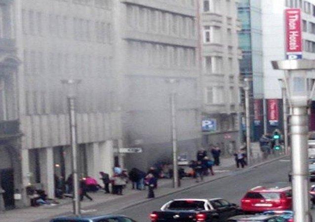 انفجار مترو بروكسل