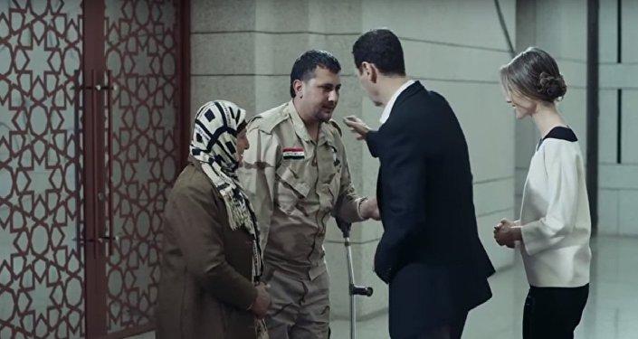 الرئيس السوري بشار الأسد وزوجته