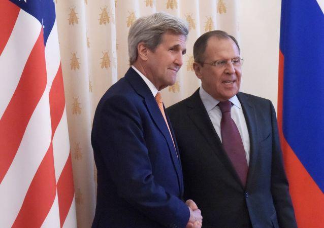 لقاء لافروف وكيري ف موسكو