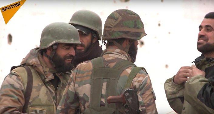 الجيش العربي السوري يفجر ألغام داعش في تدمر