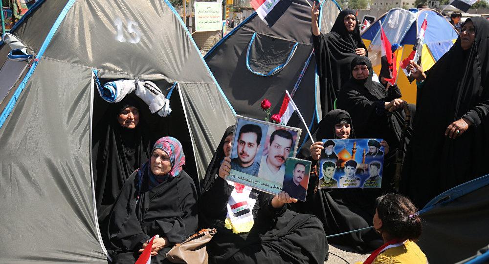 اعتصام في المنطقة الخضراء بالعاصمة العراقية بغداد.