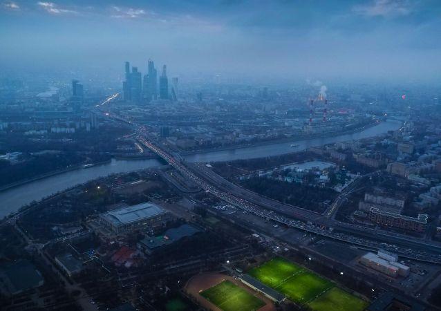 مشهد للعاصمة الروسية موسكو بعدسة طائر.