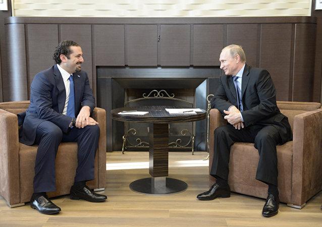 بوتين مع سعد الحريري