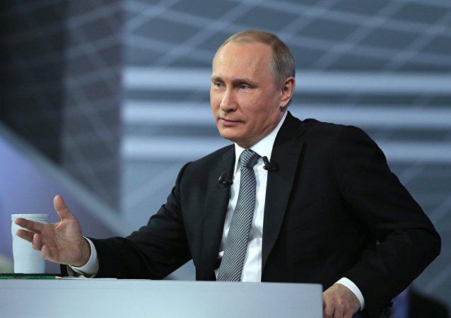الحوار المباشر للرئيس فلاديمير بوتين مع المواطنين الروس