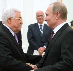 لقاء بين فلاديمير بوتين ومحمود عباس