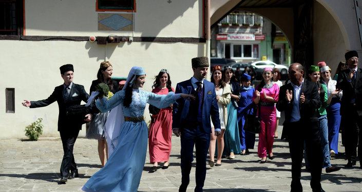 حفل زواج تتاري في القرم