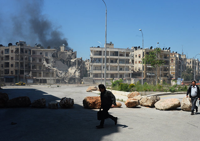 قصف مدينة حلب السورية