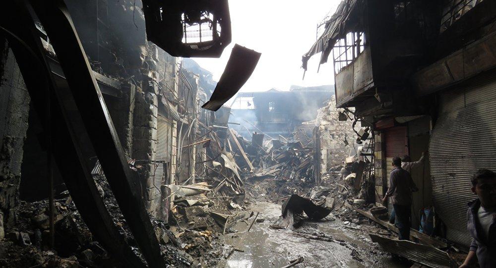 حريق في دمشق