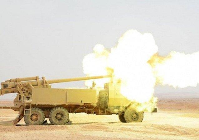 الجيش المصري يستعرض قوته بمدفع روسي جديد
