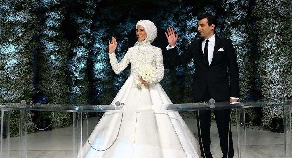 بمن أوصي أردوغان ابنته خلال حفل زفافها