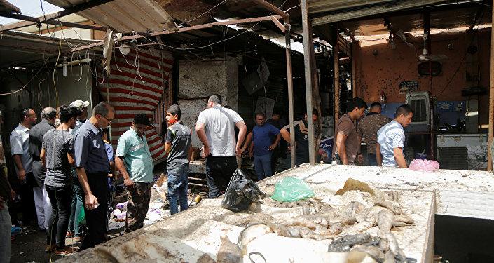 تفجير السوق الشعبي بمنطقة الشعب ببغداد