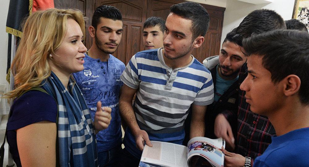 التلاميذ السوريون