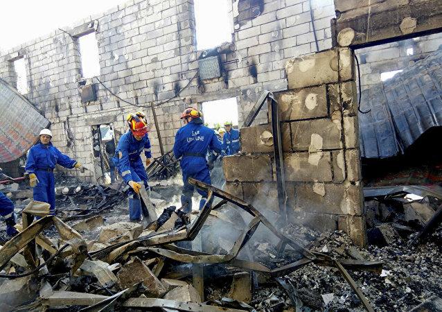 حريق دار للمسنيين في أوكرانيا
