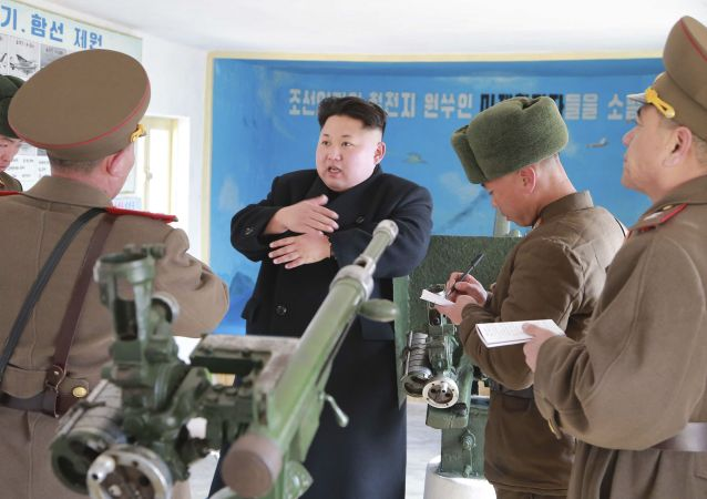 الرئيس الكوري الشمالي كيم جونغ اون
