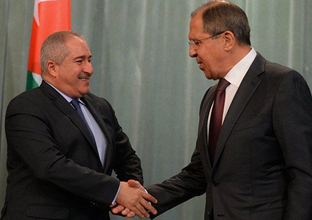 سيرغي لافروف ووزير الخارجية الأردني