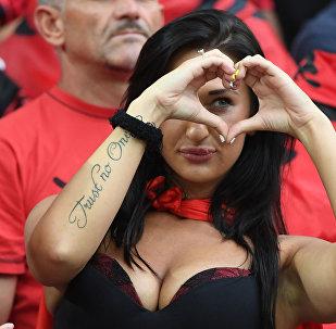 مشجعي ألبانيا في كأس أوروبا لكرة القدم يورو 2016