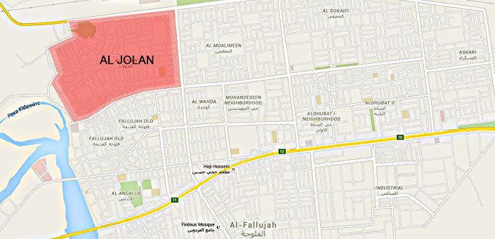 حي الجولان في مدينة الفلوجة العراقية