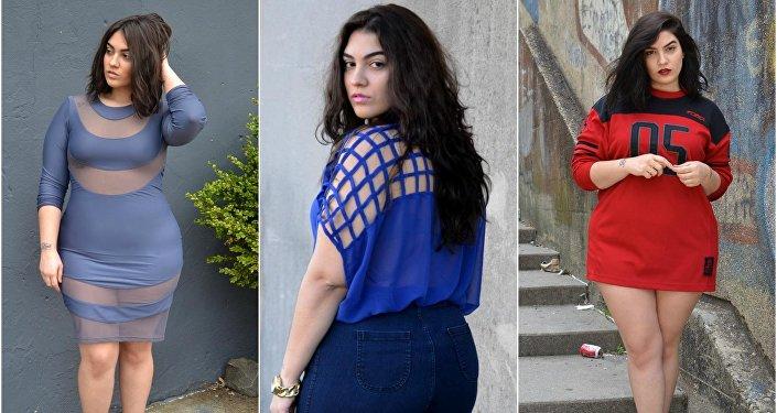 2283c6717 بالصور...عارضة أزياء لبنانية تثبت أن الجسم الممتلئ يتمتع بجاذبية ...