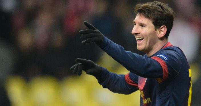 لاعب كرة القدم الأرجنتيني ليو ميسي ونجم فريق نادي برشلونة