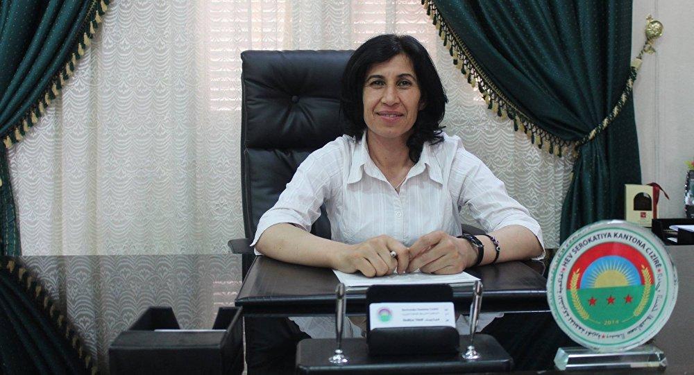 رئيسة المجلس التأسيسي للنظام الديمقراطي الفيدرالي شمالي سورية هدية يوسف