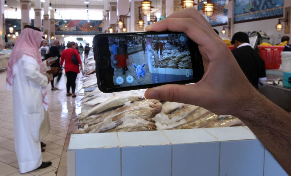كائنات لعبة بوكيمون-غو (Pokemon Go) في الكويت، 14يوايو/ تموز 2016.