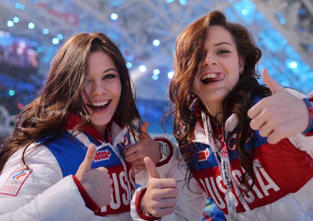 رياضتان روسيتان في حفل اختتام أولمبياد سوتشي