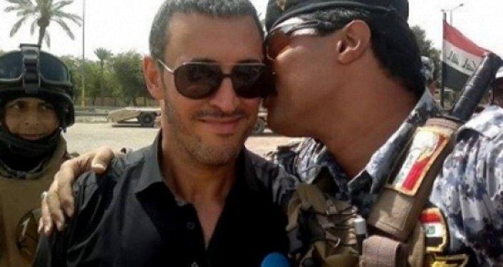 كاظم الساهر مع جنود الجيش العراقي