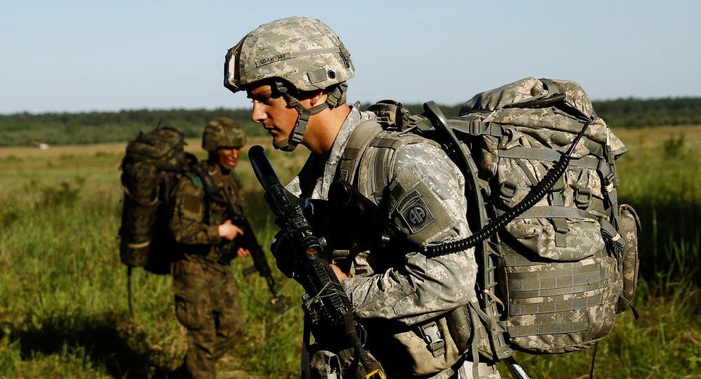 جندي أمريكي خلال تدريب في بولندا