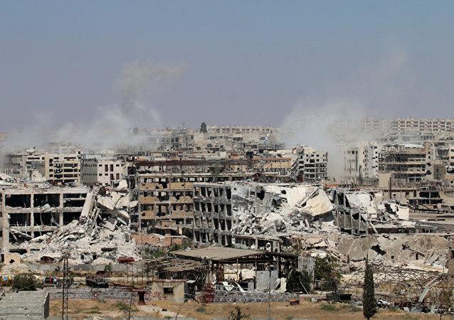 إنفجار في حي القامشلي بسوريا