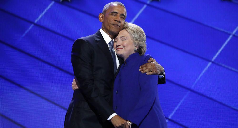 باراك أوباما وهيلاري كلينتون