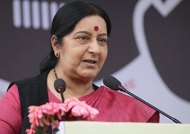 وزيرة الخارجية الهندية سوشما سواراج
