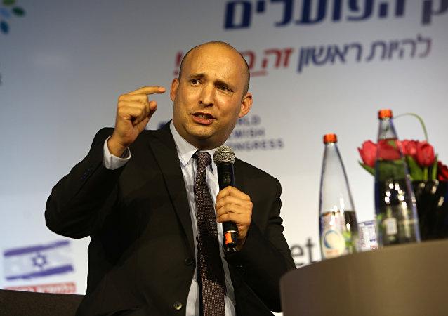 رئيس حزب البيت اليهودي في إسرائيلي نفتالي بنيت