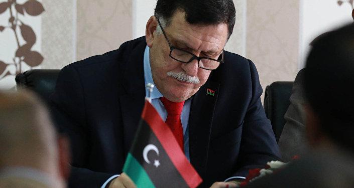 رئيس المجلس الرئاسي لحكومة الوفاق الوطني في ليبيا فائز السراج