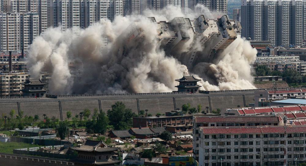 انهيار مبنى (صورة أرشيفية)
