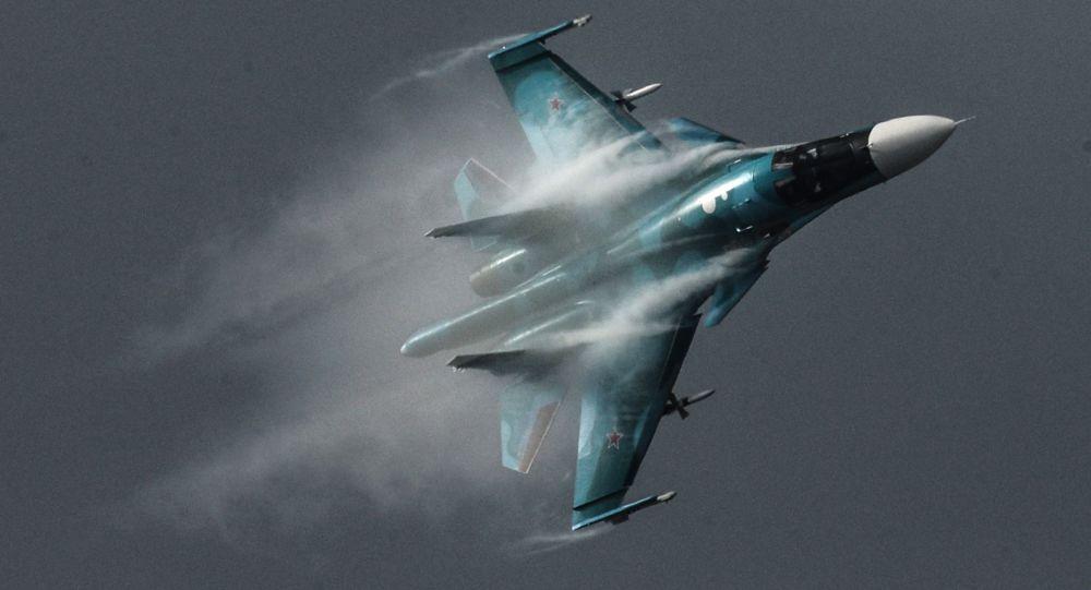 """تصادم طائرتي """"سو-34"""" في سماء روسيا 1019871996"""
