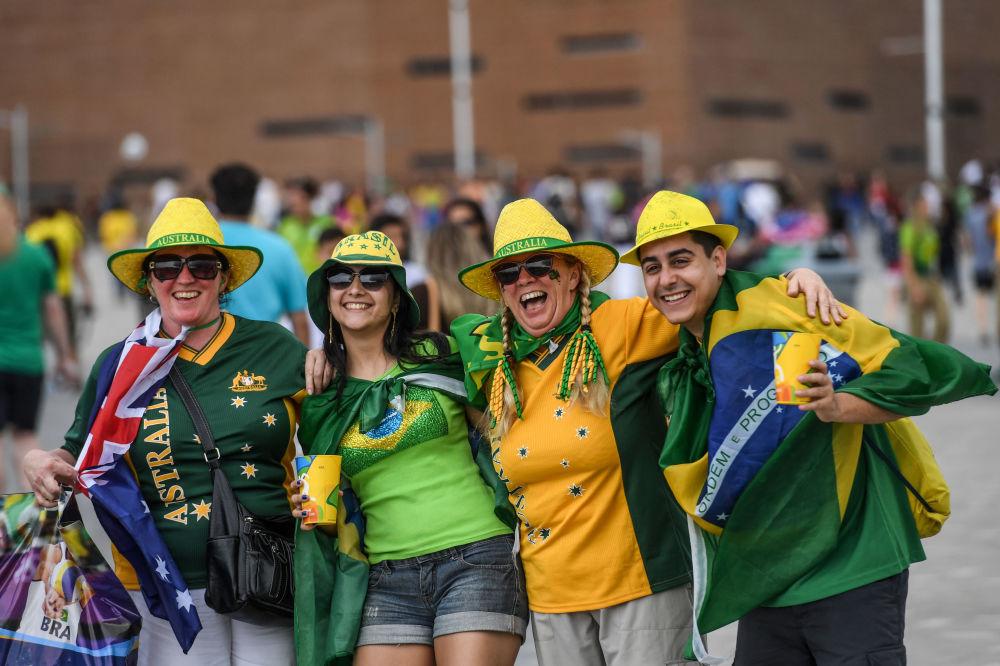 أولمبياد ريو 2016 - مشجعون برازيليون في حديقة الألعاب الأولمبية، أغسطس/ آب 2016