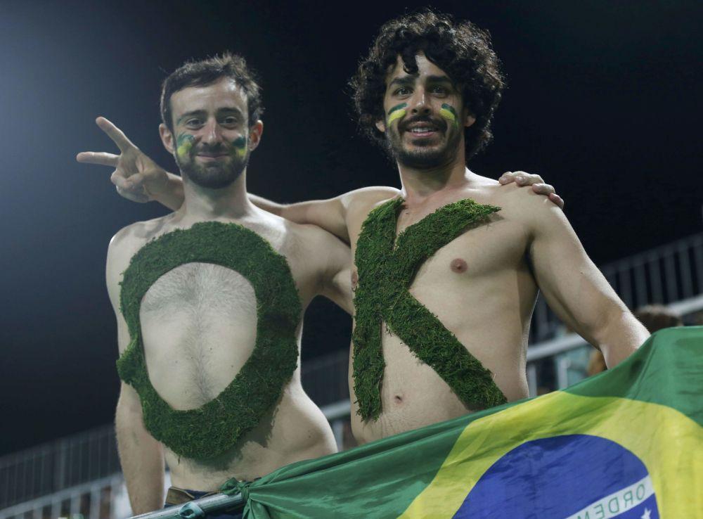 أولمبياد ريو 2016 - مشجعان برازيليان لفريق الهوكي (الصيفي) للرجال،7 أغسطس/ آب 2016