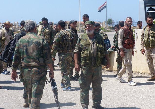 الجيش السوري في جمعية الزهراء