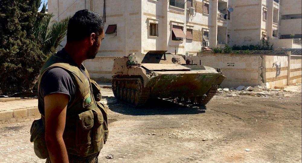 جنود من الجيش السورى في حلب