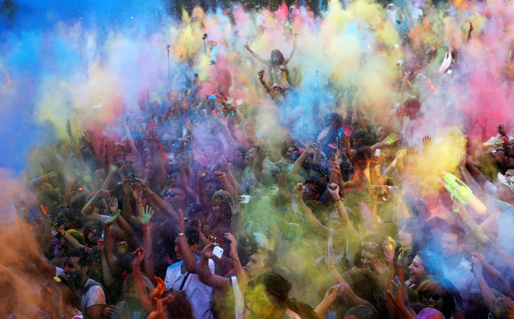 مهرجان مونسون هولي مدريد في إسبانيا، 13 أغسطس/ آب 2016