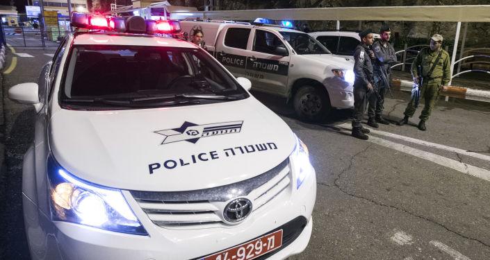 سيارة تابعة للشرطة الإسرائيلية