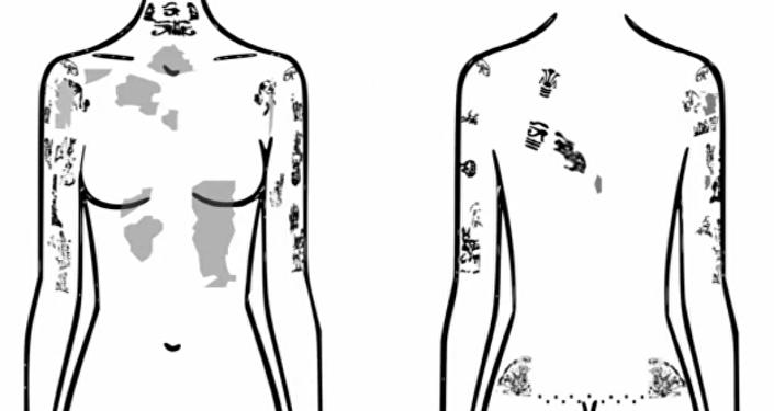 أماكن الوشم على جسد المرأة