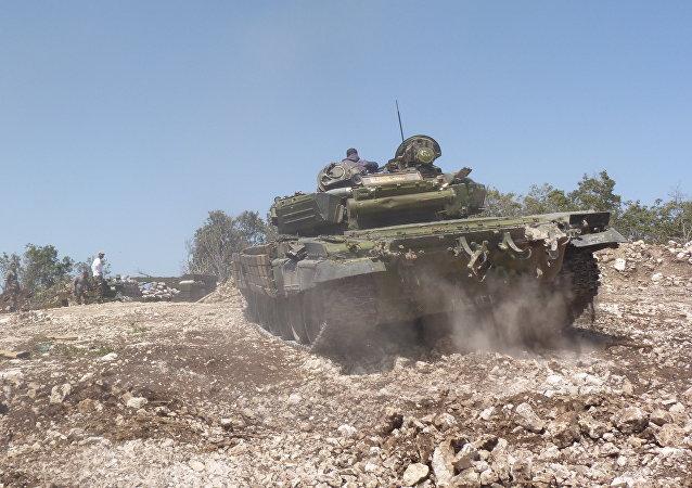 الجيش السوري يقوم بعملية عسكرية واسعة في بلدة معان بحماة