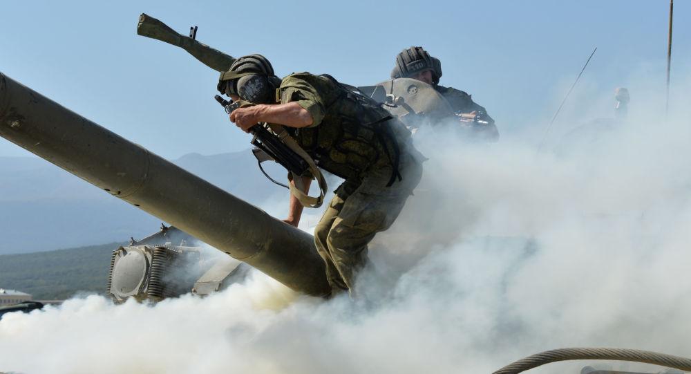 تمرين لجنود الدبابات