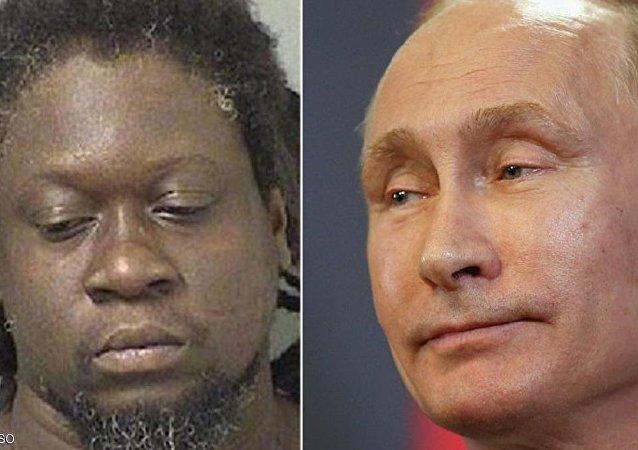 الرئيس الروسي (يمين) وشخصية فلاديمير بوتن (يسار)