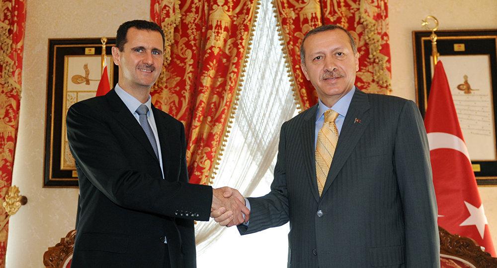 بشار الأسد ورجب طيب أردوغن - صورة أرشيفية
