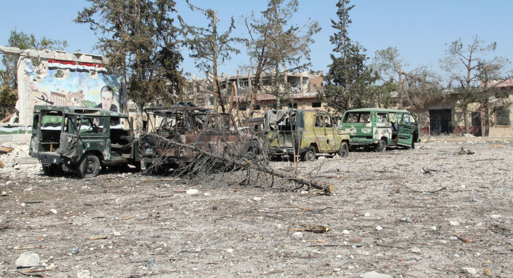 الجيش العربي السوري في المواقع المحررة في مدبنة حلب بعدأن كانت تحت سيطرة الإرهابيين